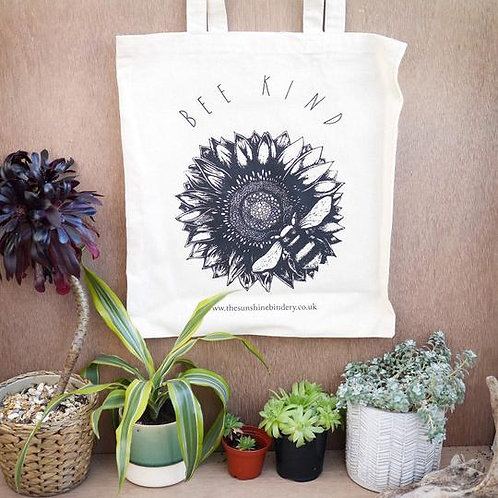 BEE KIND COTTON TOTE