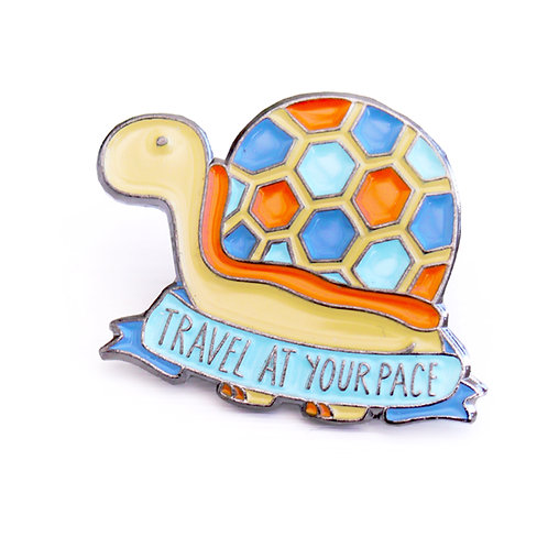 TRAVEL AT YOUR PACE PIN