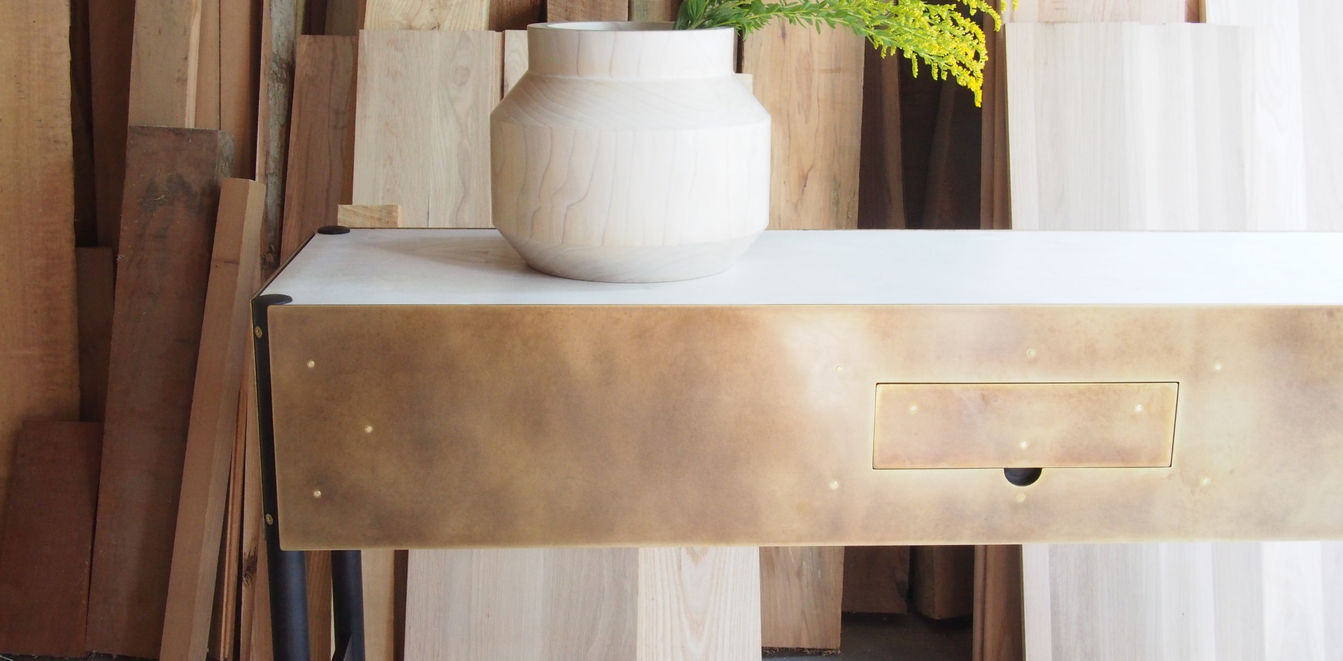 Phillips Console Table in Bronze