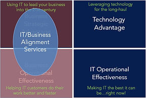 IT Business Priority Matrix labels it bu