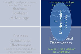 IT Business Priority Matrix labels IT mo