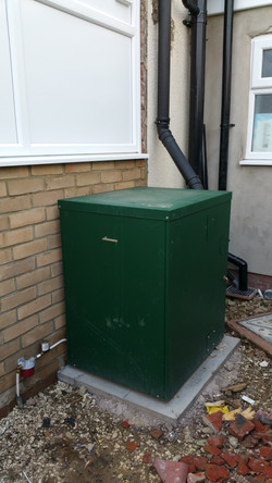 Huttoft outdoor boiler Installation