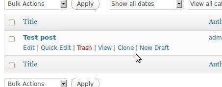 Einfaches kopieren einer Seite oder eines Posts in Wordpress