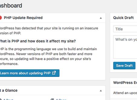 Ihre Wordpress-Webseite läuft noch mit einer alten PHP Version?