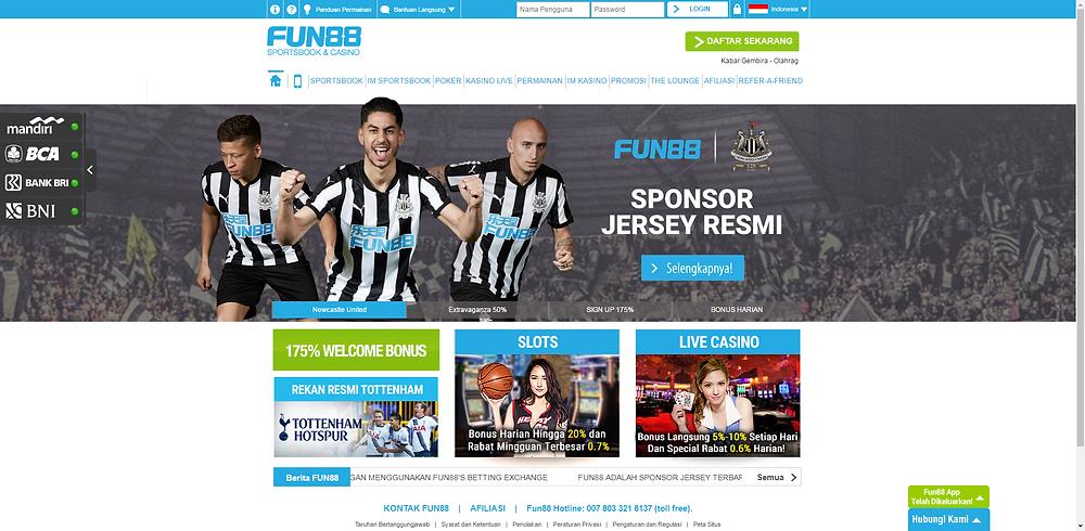 Halaman utama Fun88 Indonesia