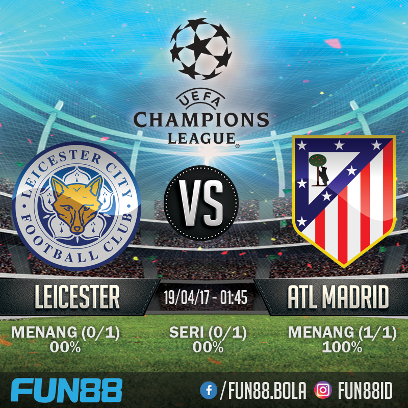Jadwal Champions League - Leicester City v Atletico Madrid