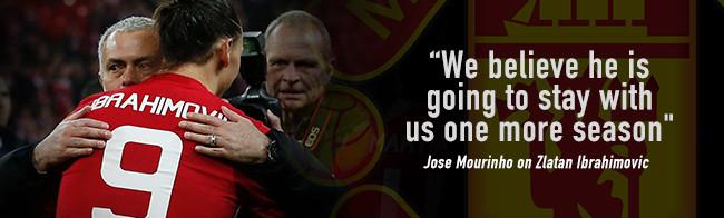 Jose Mourinho percaya bahwa Zlatan akan perpanjang setidaknya 1 musim lagi