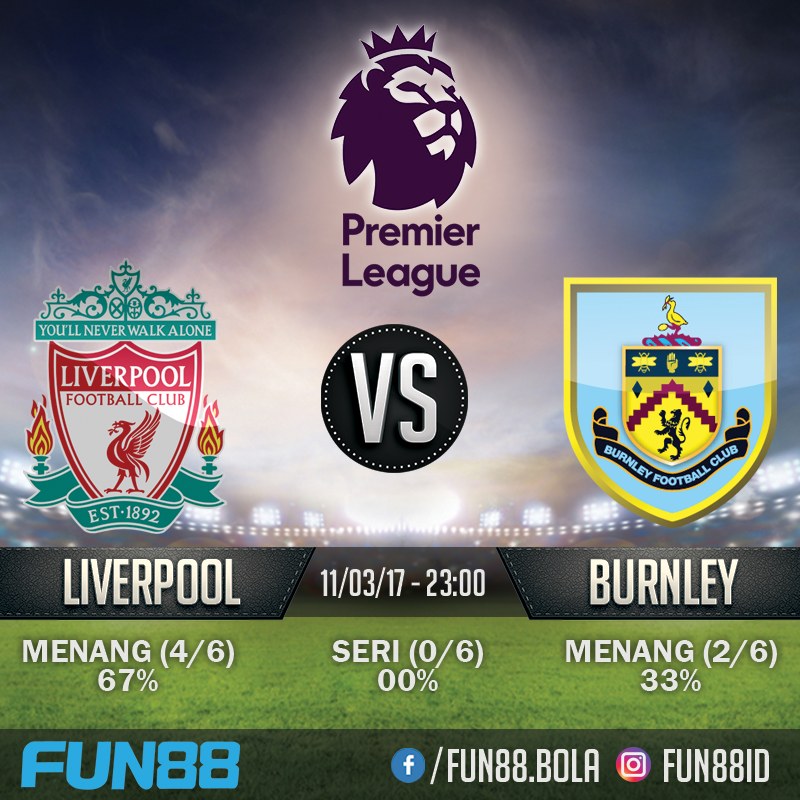 Prediksi Premier League - Liverpool v Burnley