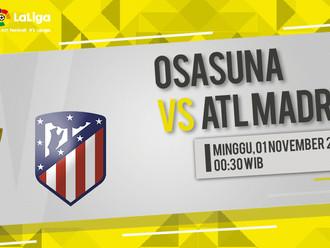 Prediksi LaLiga: Osasuna vs Atletico Madrid