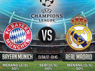Prediksi Bola Champions League - Bayern Munich v Real Madrid