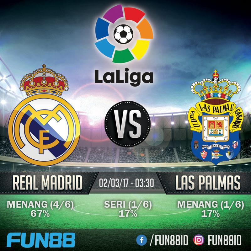 Prediksi Real Madrid v Las Palmas