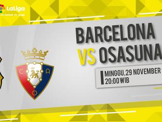 Prediksi LaLiga: Barcelona vs Osasuna