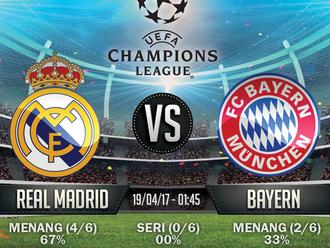 Prediksi Bola Champions League - Real Madrid v Bayern Munich