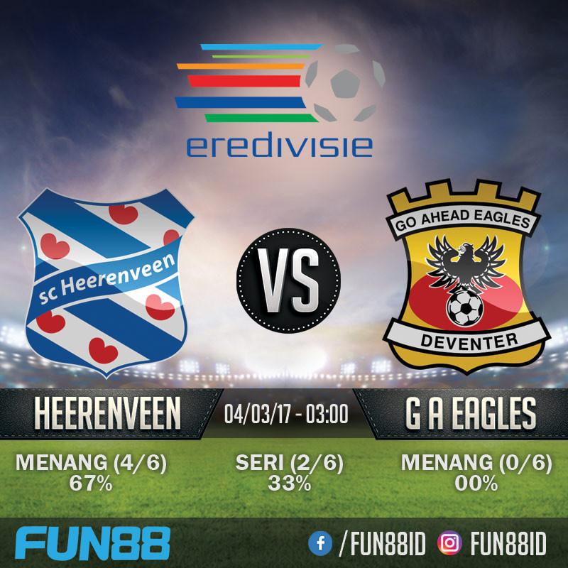 Prediksi SC Heerenveen v Go Ahead Eagles