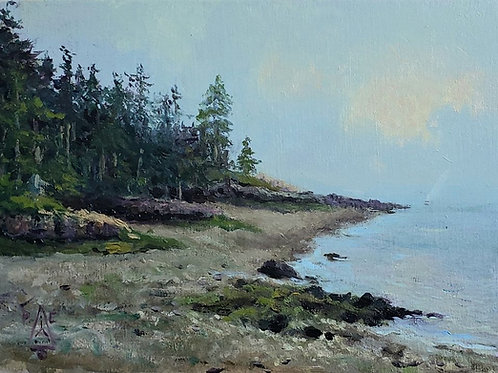 Port Elizabeth Maine, Oil on Panel, 5 x7 inches