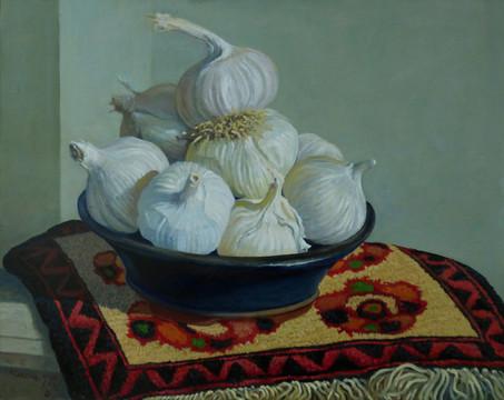 Garlic Blue Bowl #2