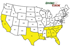 Map of EnviroColor service providers in the US