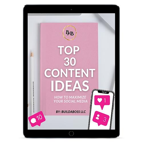 Top 30 Content Ideas