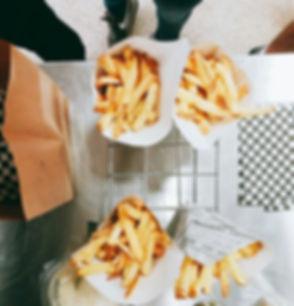 Batatas fritas artesanais