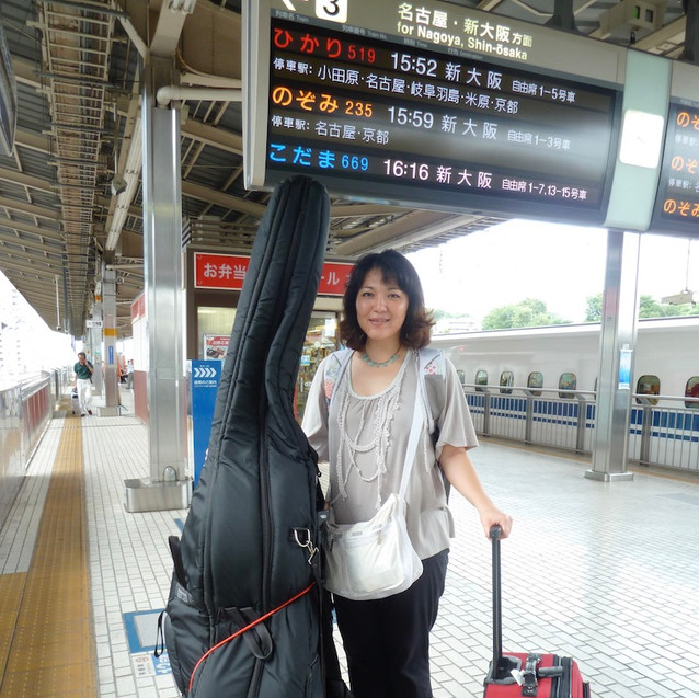 waiting for Shinkansen