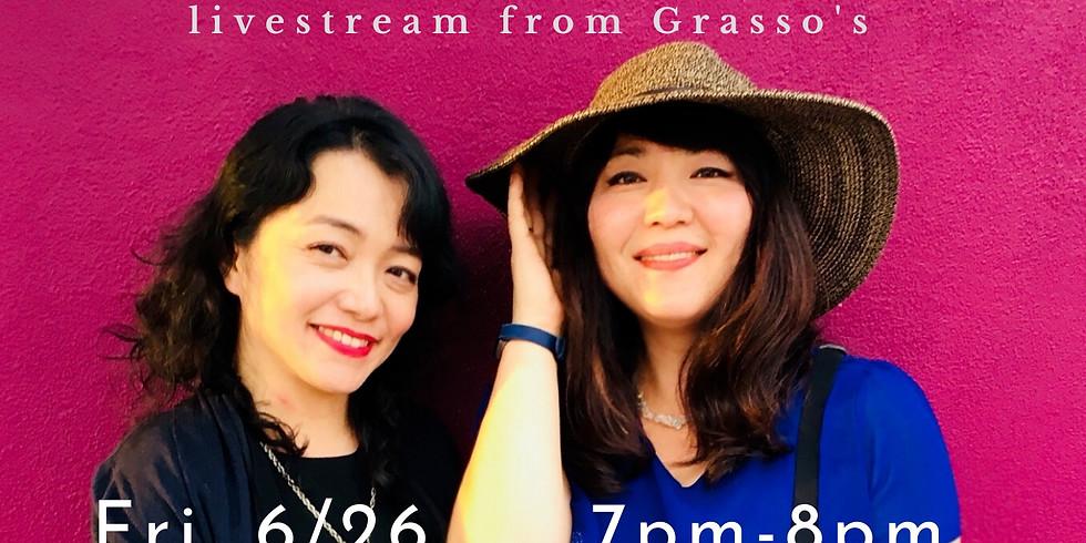 Sakura Jazz Duo Livestream from Grasso's