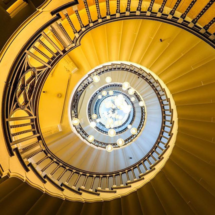 Heal's spiral staircase