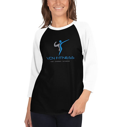 VCN 3/4 sleeve raglan shirt