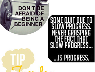 EVERYONE WAS ONCE A BEGINNER trainer tip #3 3.14.17