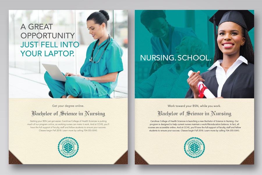 Ad campaign for BSN degree.