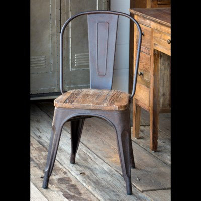 ELM TOPPED BISTRO CHAIR