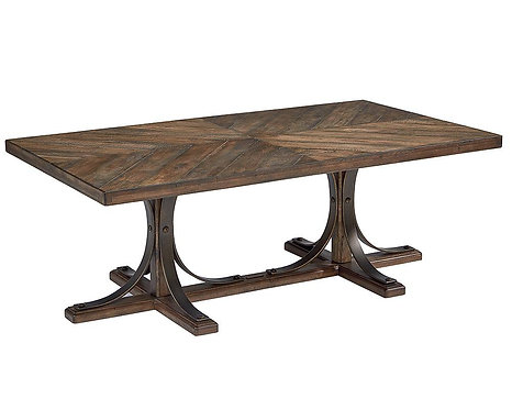 IRON TRESTLE COFFEE TABLE