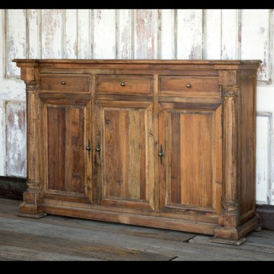 RECLAIMED PINE COLUMN CONSOLE