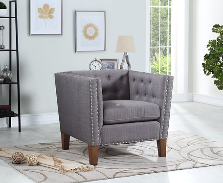 Campbell Accent Chair – Grey