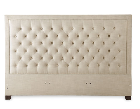 Isadora Sand Upholstered Headboard - King