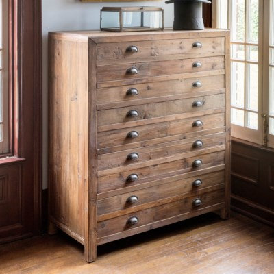 OLD PINE MAP MAKERS CABINET
