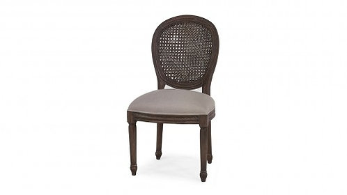 TULIP RATTAN BACK DINING CHAIR