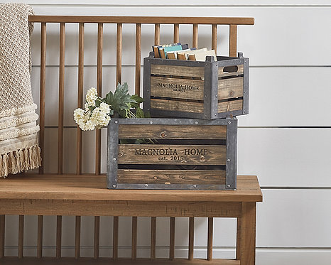 UTILITY CRATES - SET OF 2