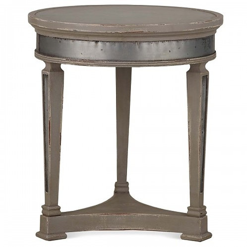 LARGE RALEIGH LAMP TABLE WITH TIN