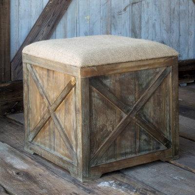 SEAT BOX BURLAP