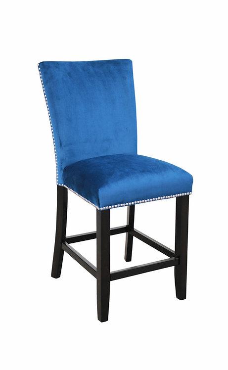Camila Blue Velvet Counter Chair