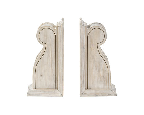 WOOD SILAS CORBEL BOOKENDS