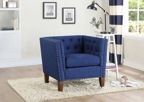 Campbell Accent Chair – Blue
