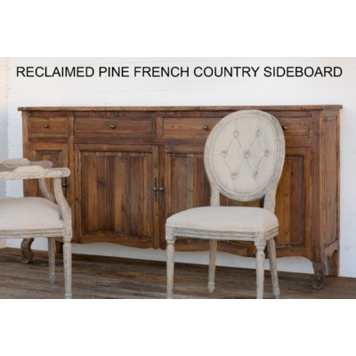 RECLAIMED PINE FRENCH COUNTRY SIDEBOARD