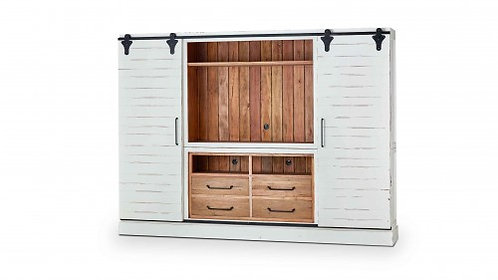 SONOMA ENTERTAINMENT CABINET W/ SLIDING DOORS