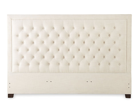Isadora White Upholstered Headboard - King