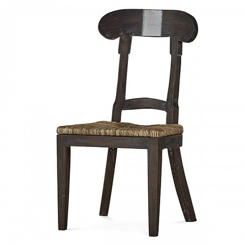 SWEDISH FARMHOUSE CHAIR W/ TIN
