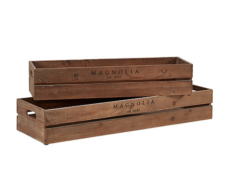 HARVEST CRATE TROUGHS - SET OF 2