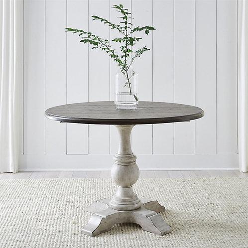 Cottage Lane Drop Leaf Single Pedestal Table