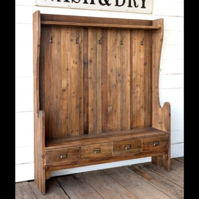 HIGH BACK MUDROOM BENCH