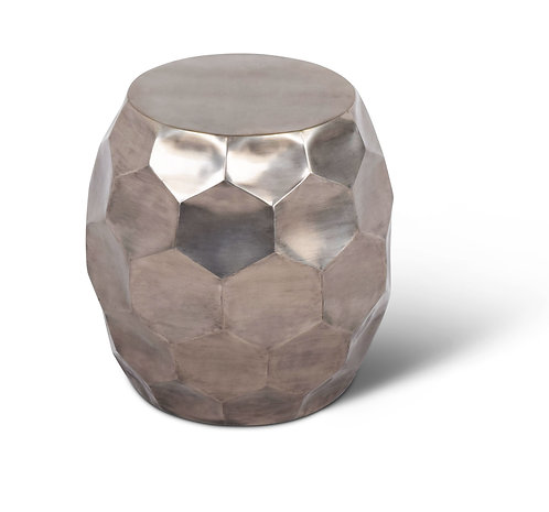 Stomp Round End Table - Nickel